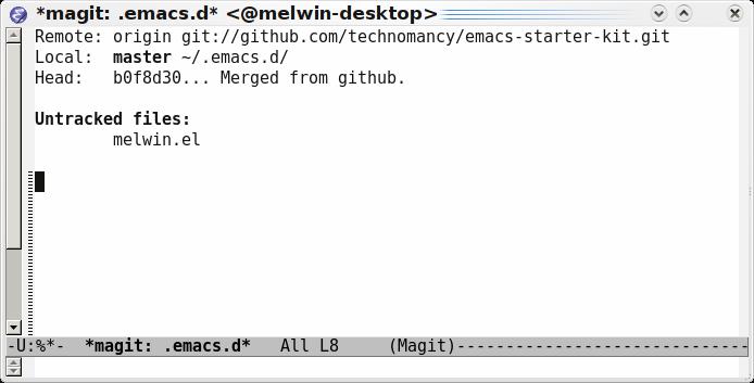 Emacs magit-status